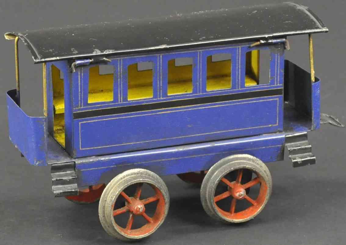 schoenner jean spielzeug eisenbahn personenwagen blau spur 1