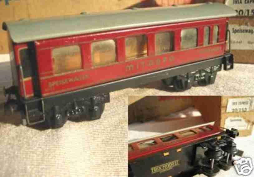 trix 20/153 spielzeug eisenbahn personenwagen speisewagen, mitropa
