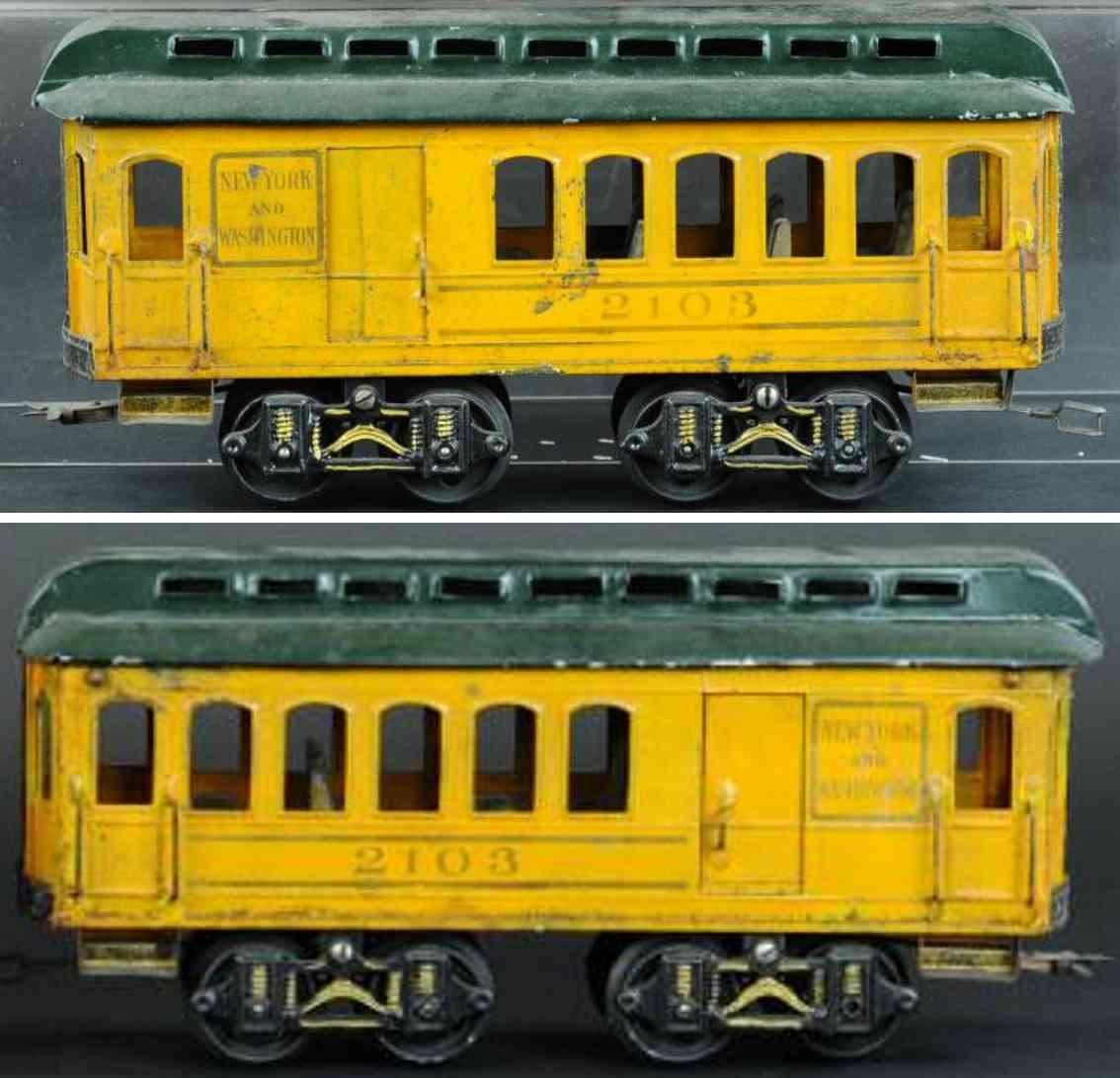 voltamp 2103 railway toy passenger car gauge 2 inches