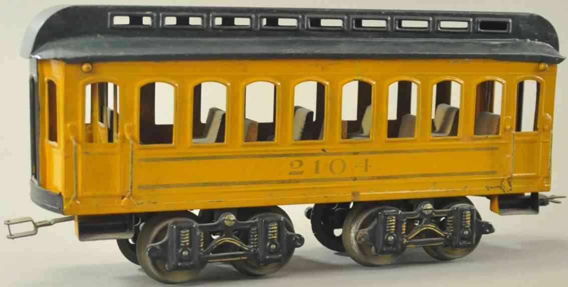 voltamp 2104 spielzeug eisenbahn personenwagen orange gruen gauge 2