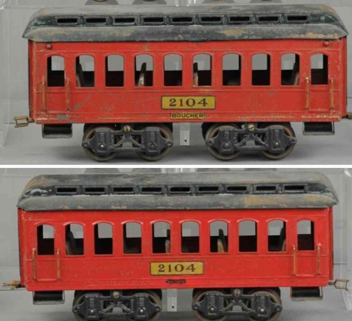voltamp 2104 eisenbahn schlafwagen rot gruen spur 2 inches