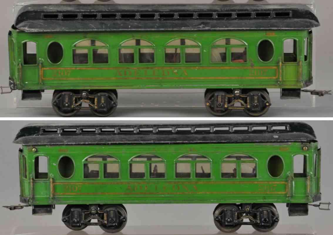 voltamp 2107 adeledna eisenbahn schlafwagen gruen spur 2 inches