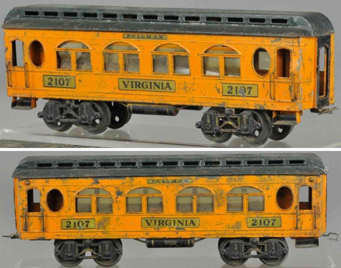 voltamp 2107 virginia schlafwagen orange gruen spur 2 inches