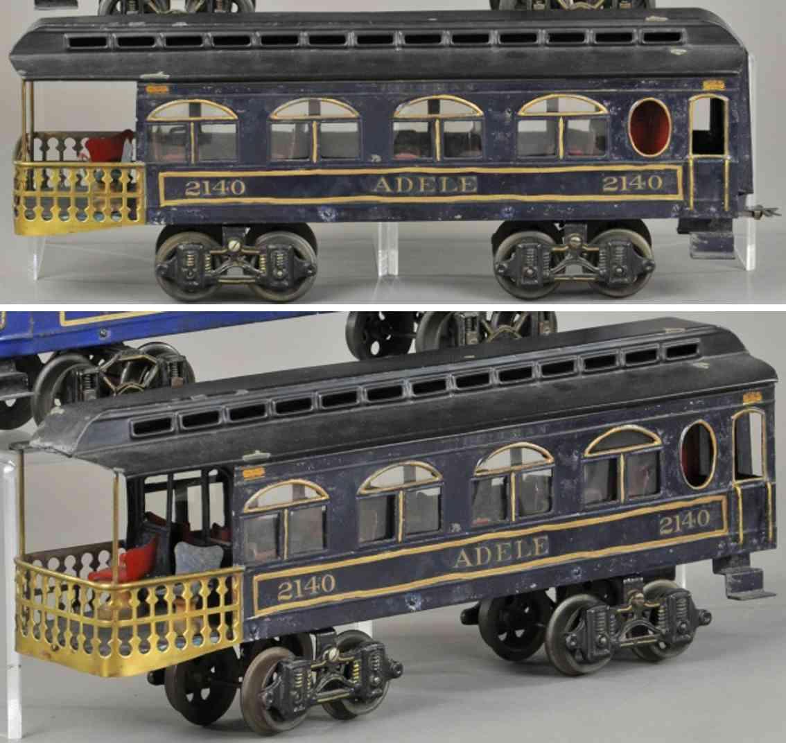 voltamp 2140 adele aussichtswagen dunkelblau spur 2 inches