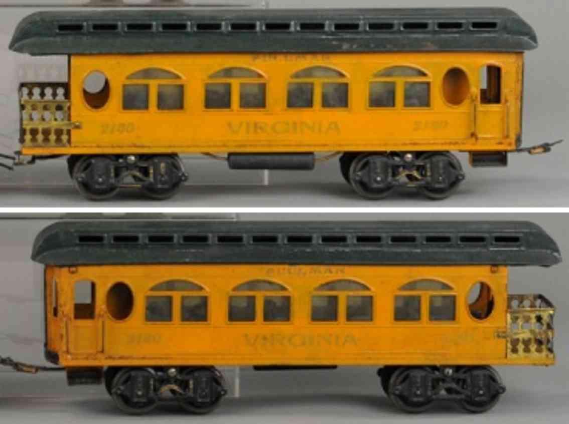 voltamp 2140 personenwagen virginia aussichtswagen orange gruen spur 2 inches