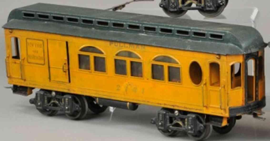 voltamp 2141 eisenbahn durchgangswagen orange gruen spur 2 inches