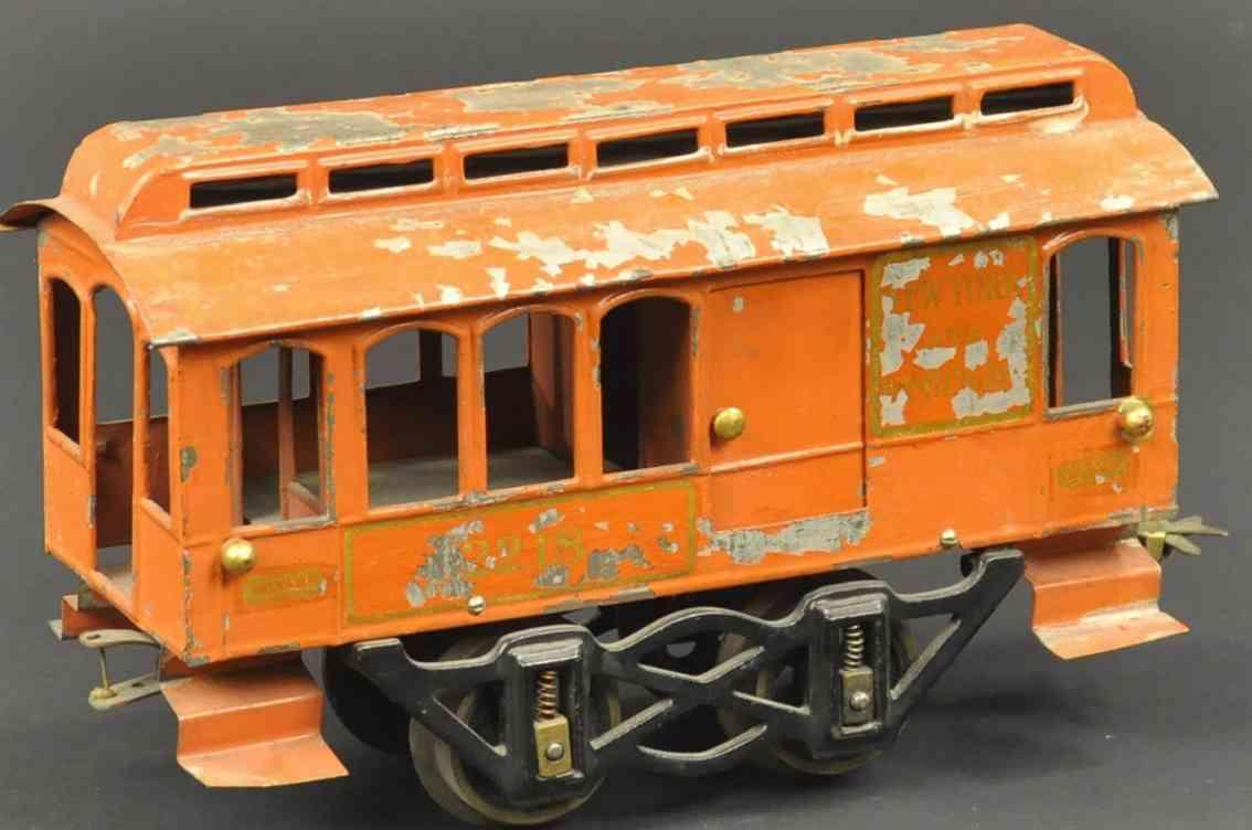 voltamp 2218 spielzeug eisenbahn gepaeckwagen orange spur 2 inches