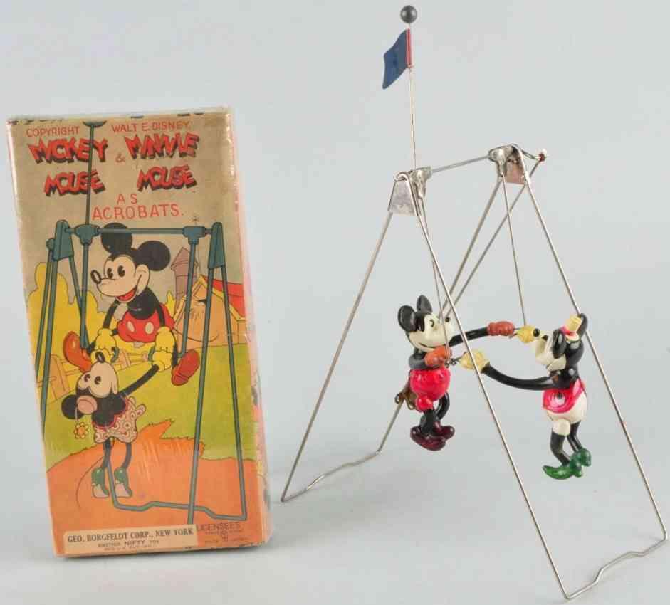 borgfeldt george & co plastik spielzeug mickey und minnie maus akrobaten