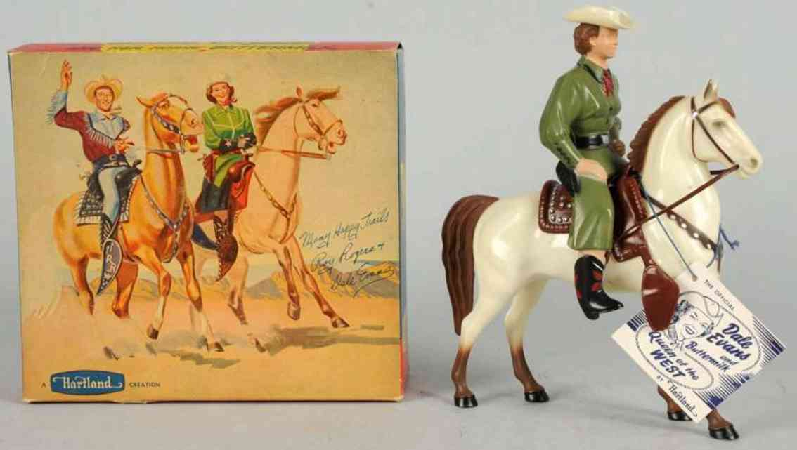 hartland 802 celluloid toy dale evans figure with horse