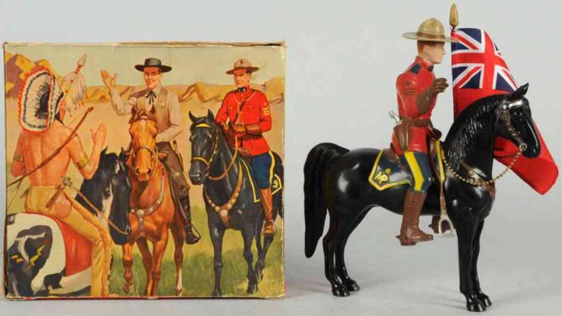 hartland 804 celluloid toy sergeant lance o'rourke figure on horse