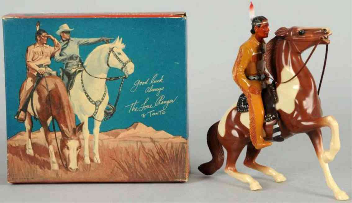 hartland 805 celluloid toy tonto figure on scout horse
