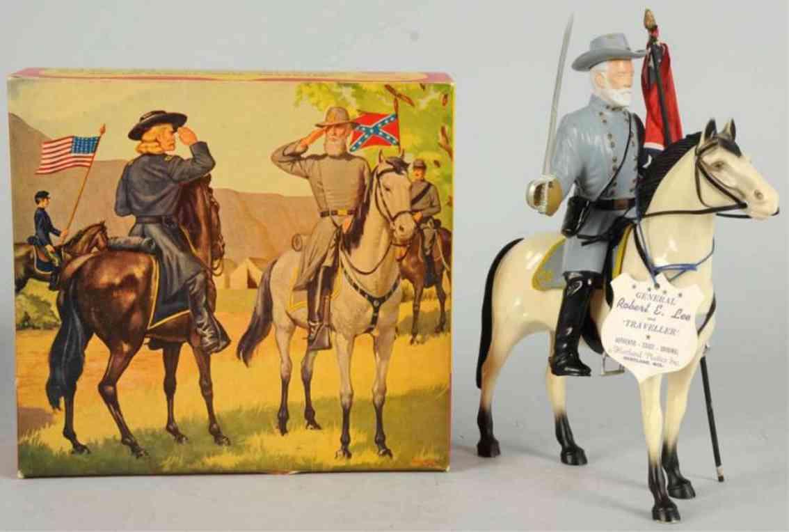 hartland 808 plastik spielzeug get robert e lee auf traveller pferd