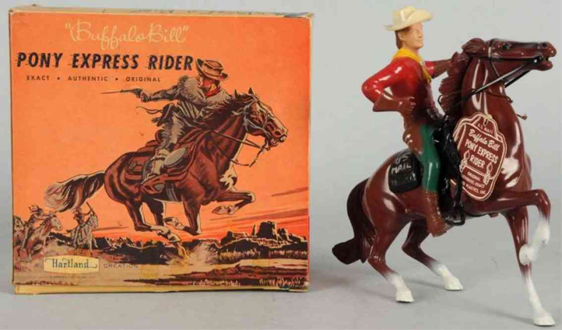 hartland 819 celluloid toy buffalo bill pony express