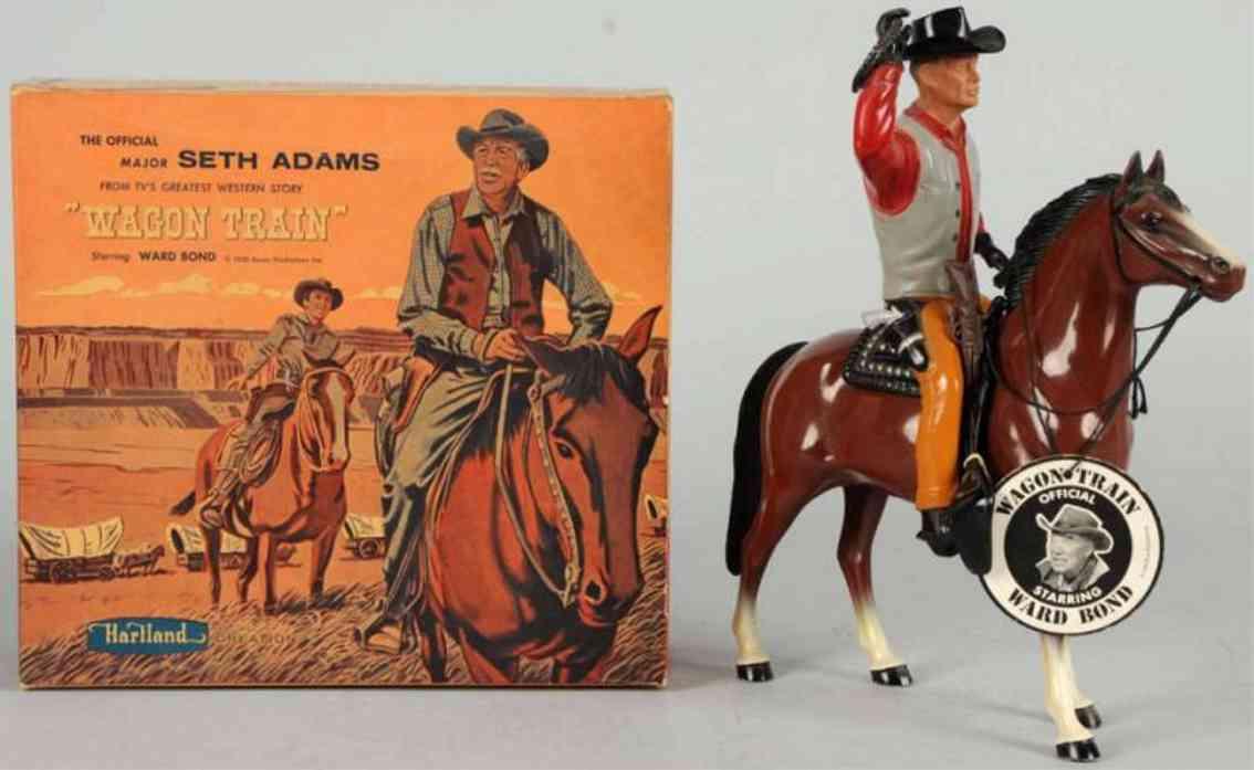 hartland 824 celluloid toy seth adamas figure on horse