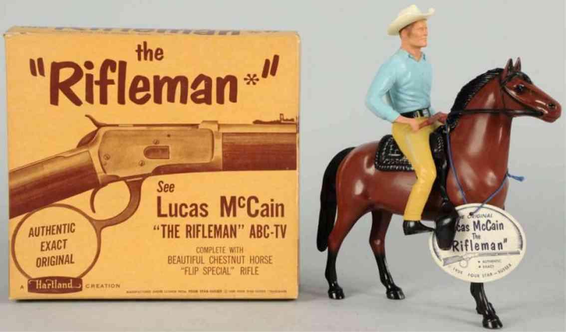 hartland 826 plastik spielzeug lucas mccain Gewehrmann auf pferd