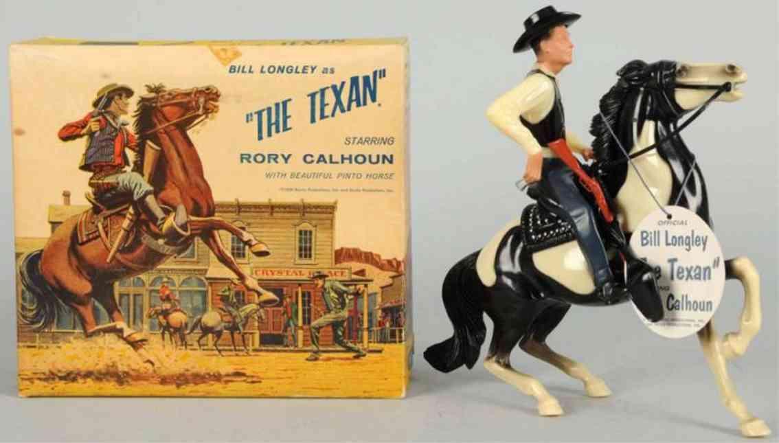 hartland 827 plastik spielzeug bill lontlye the texan auf pferd