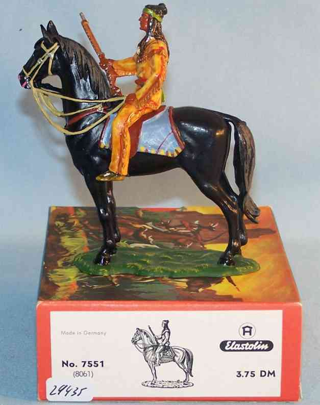 Hausser Elastolin 7551 8061 Scale 1:25 Winnetou with horse