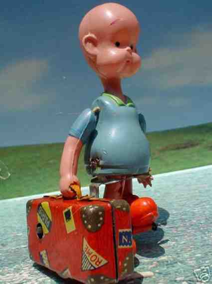 kuramochi plastik spielzeug henry koffer uhrwerk