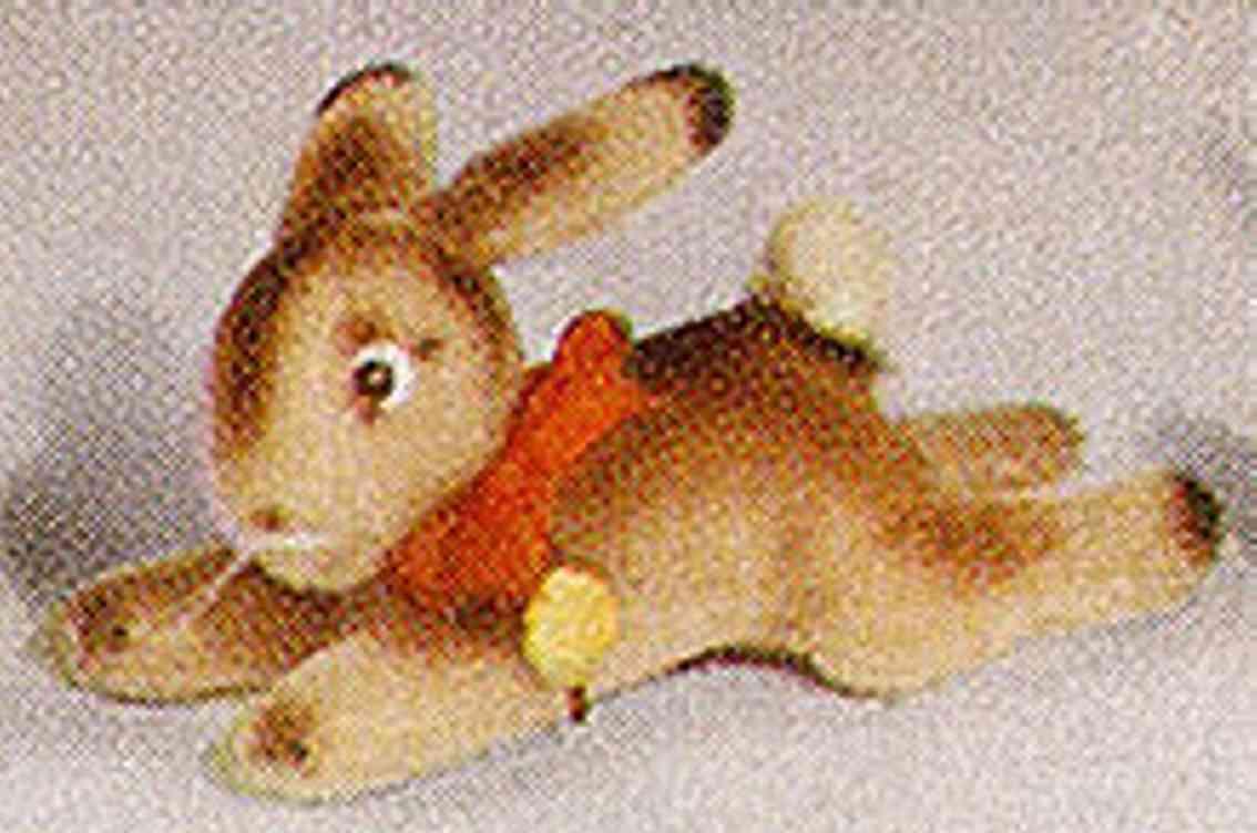 hermann 605/15 bunny lying mohair plush