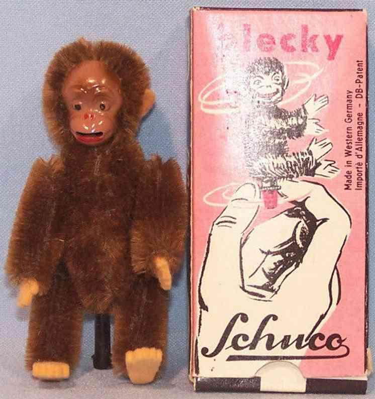schuco 7305/9 tin mohair felt monkey blecky