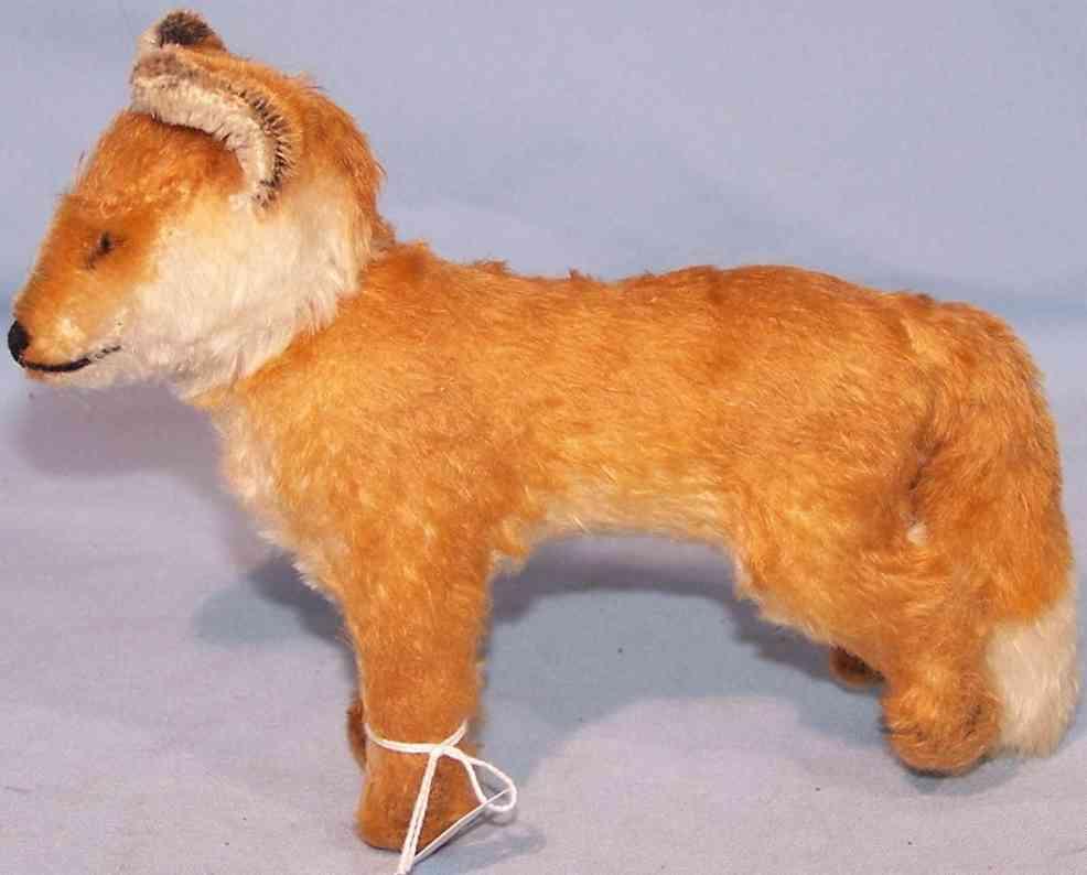Steiff 1314,0 Fuchs aus Mohairplüsch in rotbraun und weiß