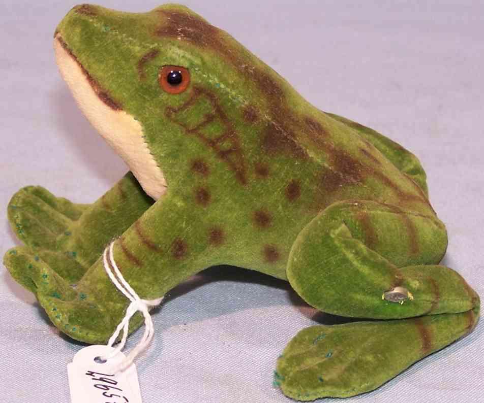 Steiff 3408 Frosch Froggy aus Samt in grün