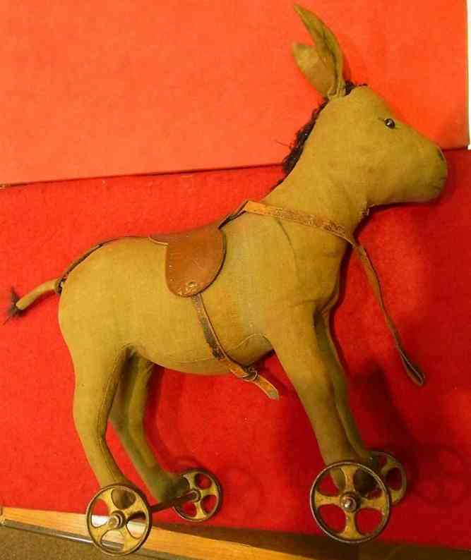 steiff plush cloth donkey museum piece