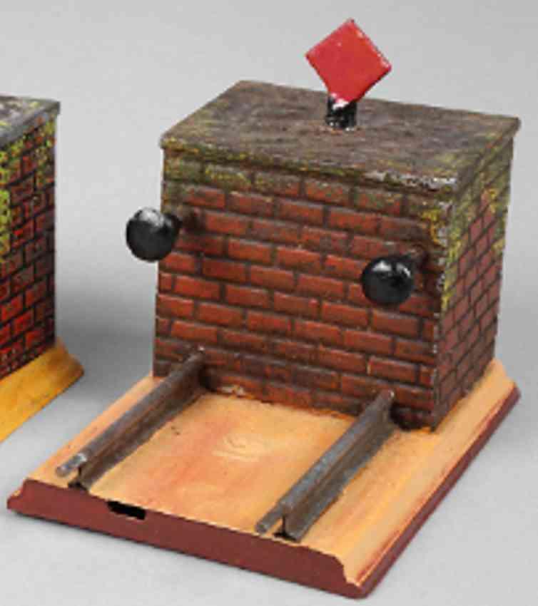 bing 10/640/1 railway toy bumper spring buffer signal disc