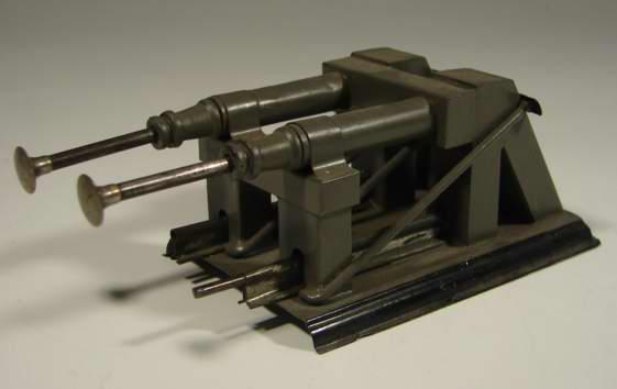 bing 10/659/0 spielzeug eisenbahn prellbock prellbock, pneumatishe form mit federpuffern