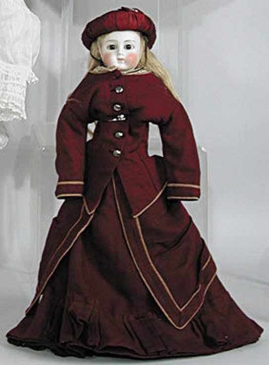 alt beck & gottschalck abg 9 12 X 6  bisque shoulder head doll cloth body