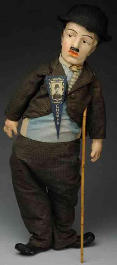 amberg louis & sohn charlie chaplin artist doll