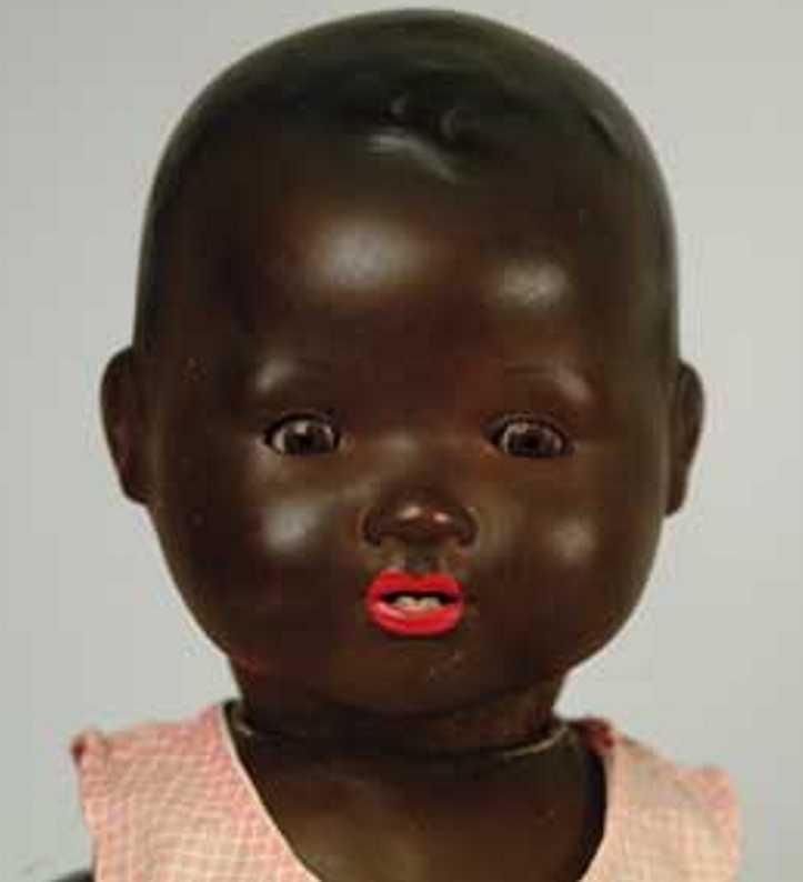 Marseille Armand 351/6.K Puppe Schwarzes Porzellanbaby