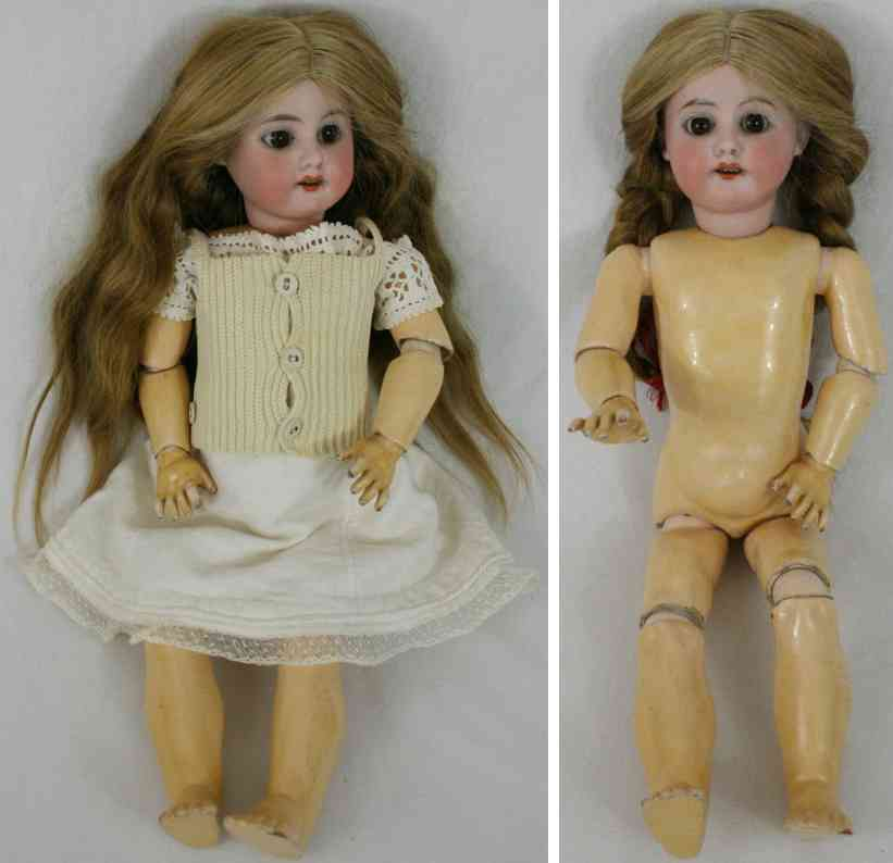 marseille armand am 3 der  porcelain head doll wooden body