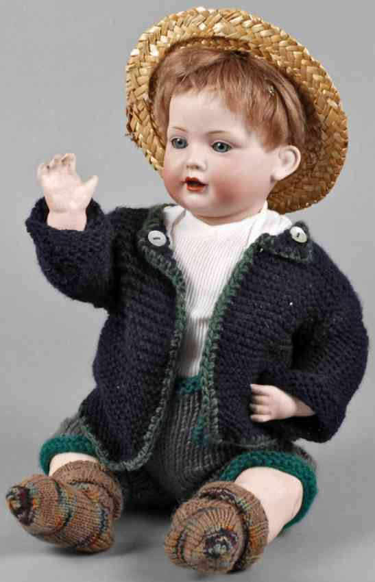 bahr & proschild 585 8 porcelain head doll character boy