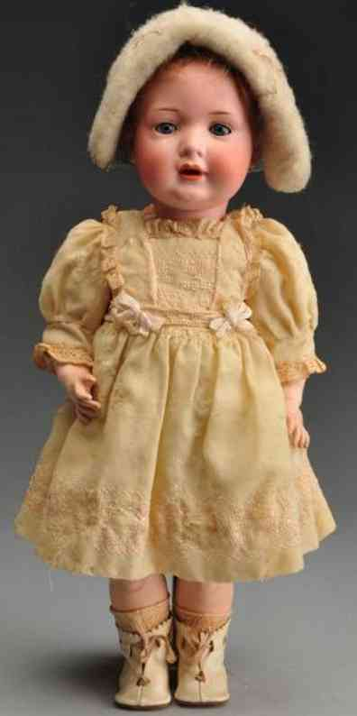 Bahr & Proeschild 585 Bisque socket head characater toddler doll,