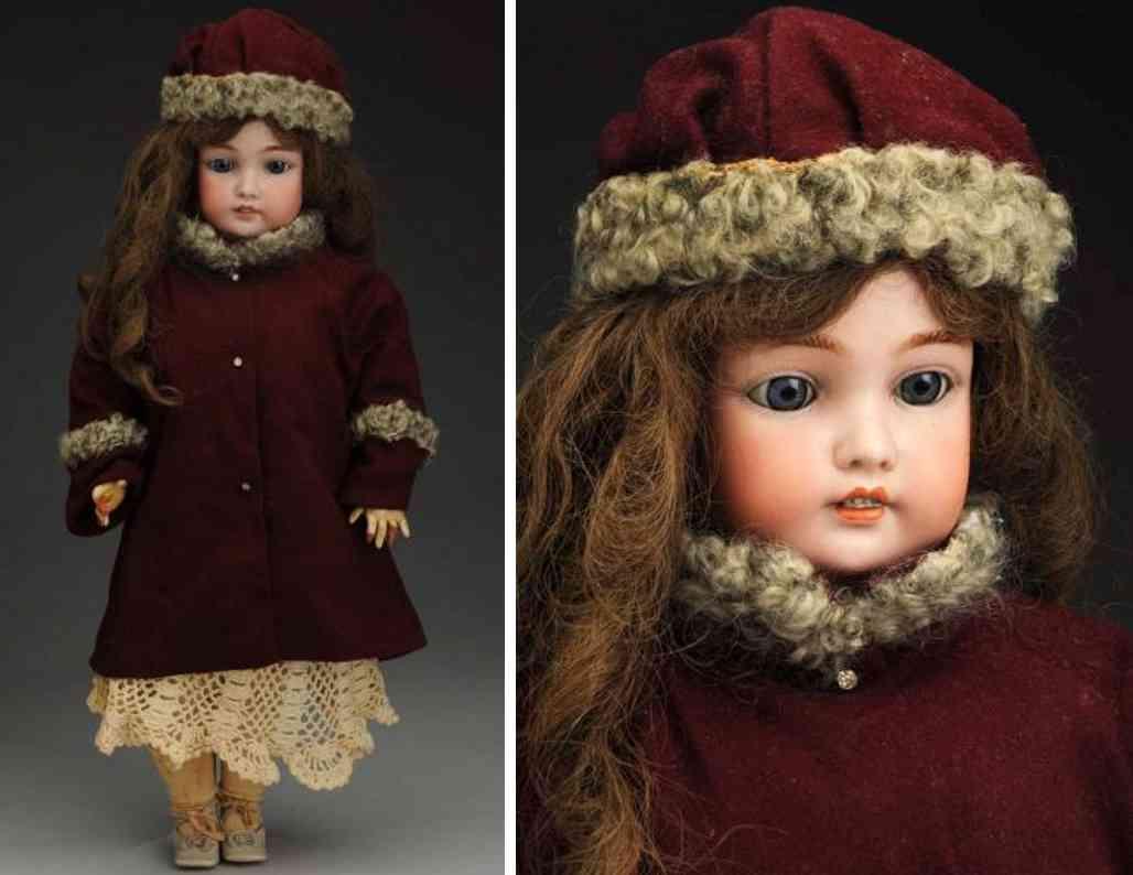 bergmann cm 7 1/2 bisque socket head child doll
