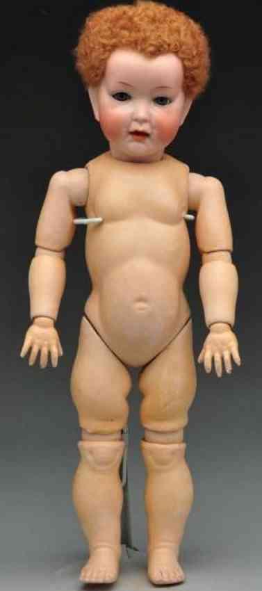 Bierschenk Fritz B II 2 German bisque socket head character boy doll