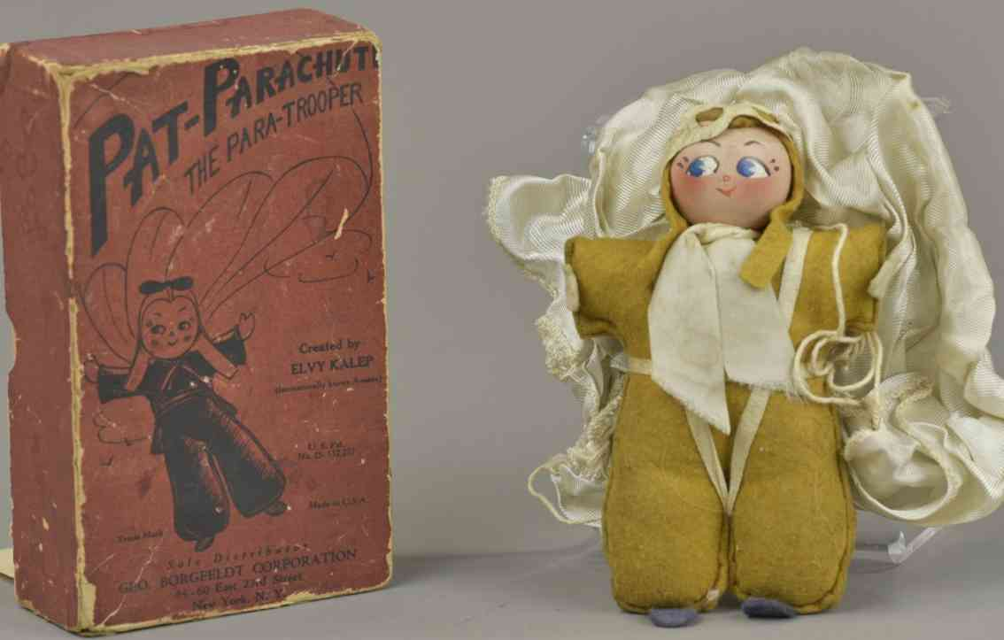 borgfeldt george & co pat parachute der fallschirmjaeger stoff puppe