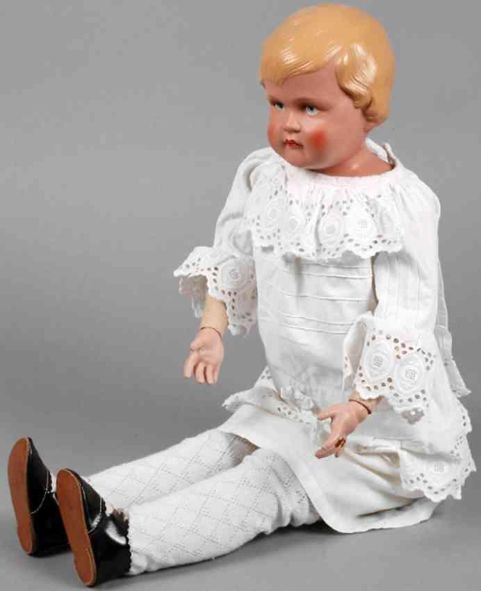 buschow und beck 10 celluloid doll girl papier mache and mass