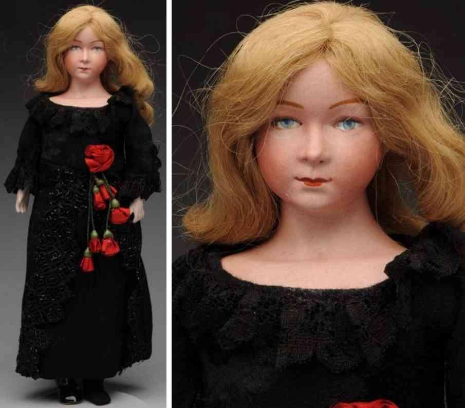 defuisseaux F3 bisque shoulder head charcater lady doll
