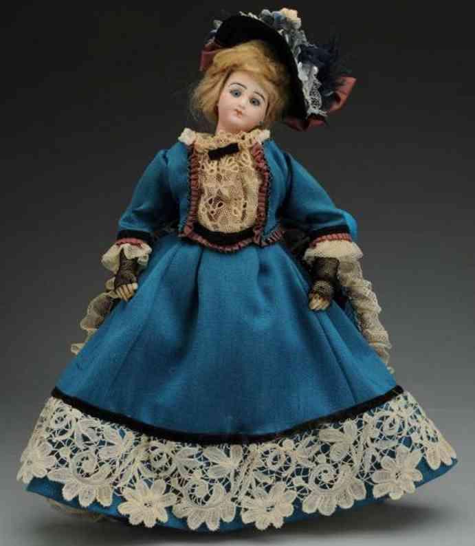 delcroix  henri paris gd bisque socket head fashion lady doll