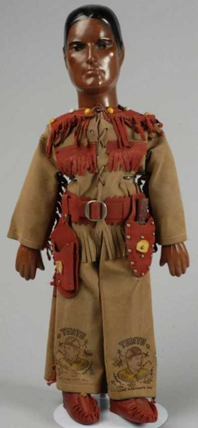 dollcraft novelty co ny tonto composition character doll indian