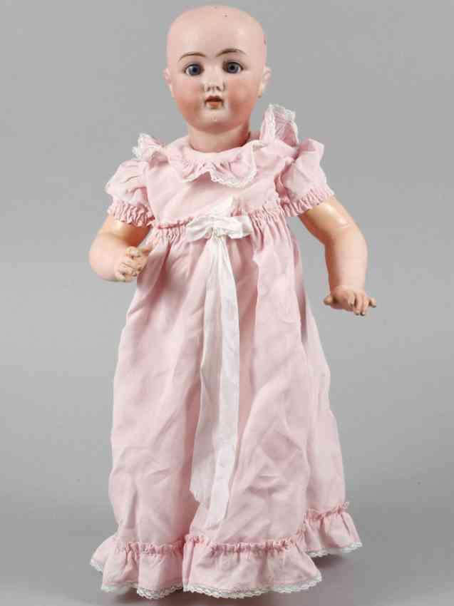 gans & seyfarth 5  porcelain head doll standing baby body