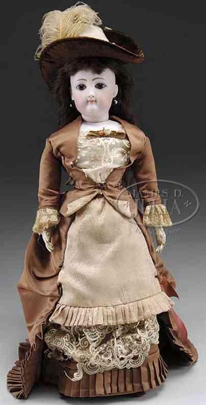 gaultier fg 6 bisque socket head doll shoulder plate