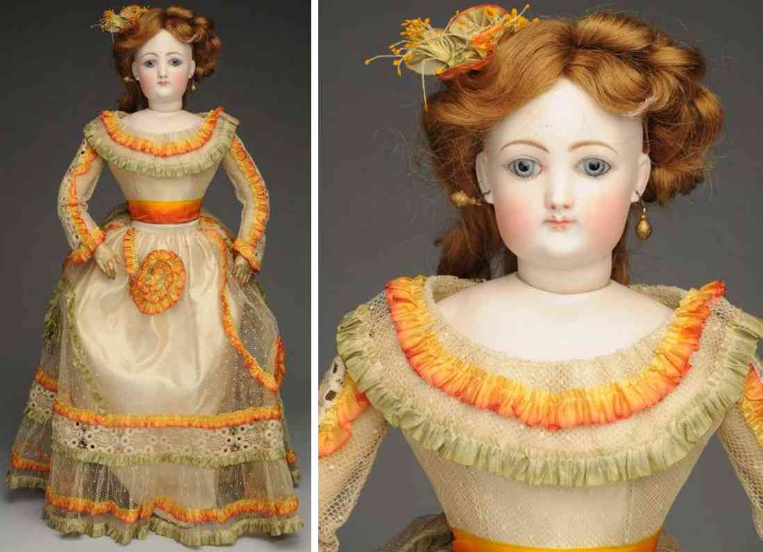 gaultier fg 6 bisque socket head lady doll