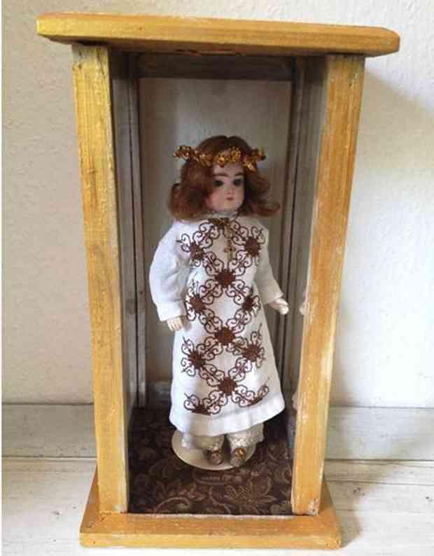Gaultier Porzellankopfpuppe Heiligen Puppe Engel