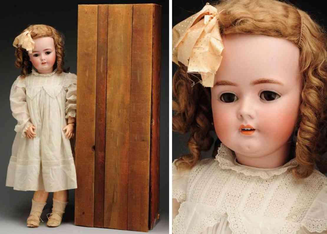 handwerck heinrich 7 1/2 (89) dolls bisque socket head child doll, head incised ?germany heinric