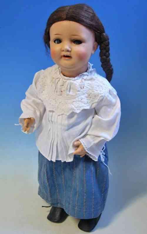 Hertel, Schwab & C0. 133 16 1/2 Puppen Babypuppe mit Keramikkopf
