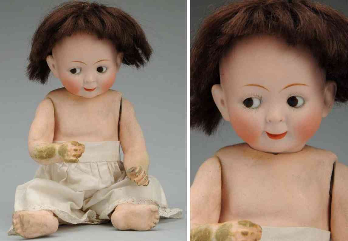 hertel schwab & co 165 2/0 bisque socket head googly doll