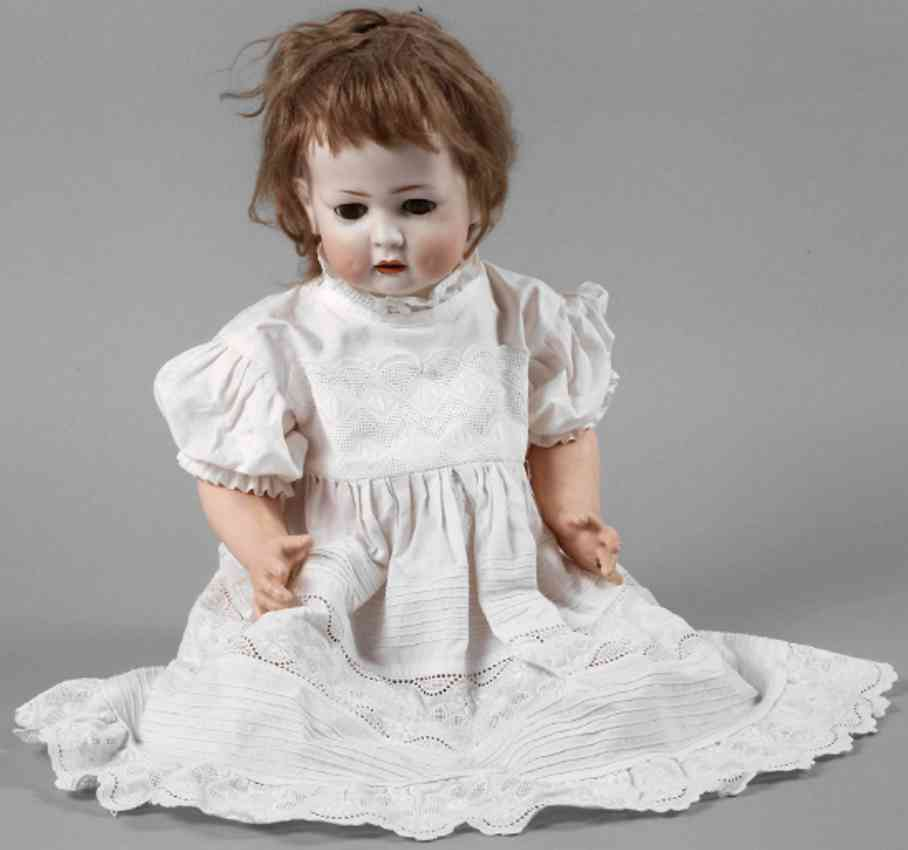hertel schwab & co k&w 179-10 porcelain head doll character girl for koenig & wernick